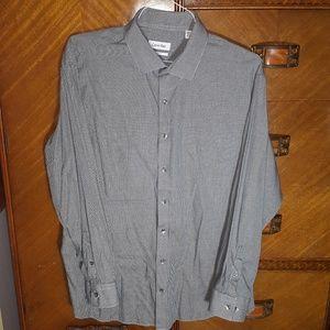 Calvin Klein houndstooth dress shirt Regular Fit